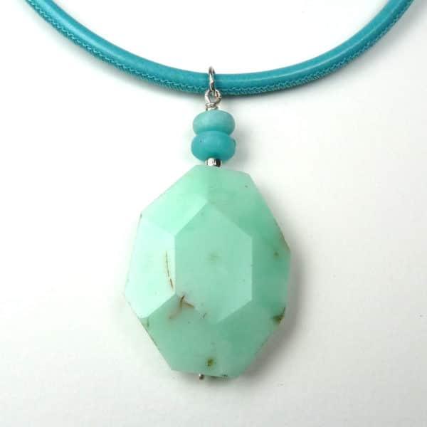 Green gemstone pendant.