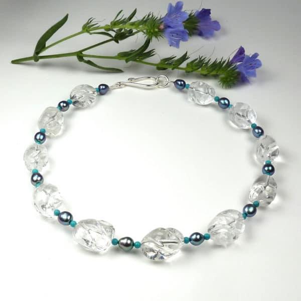 Rock crystal necklace.