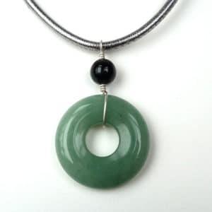 Green polo pendant.