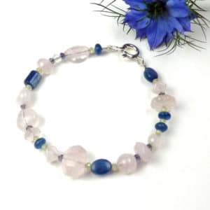 Rose quartz bracelet.