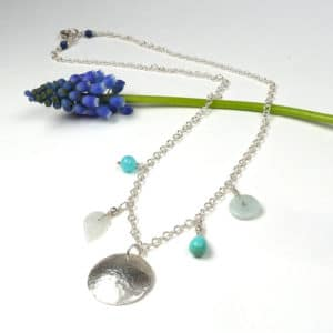 Gemstone charm necklace