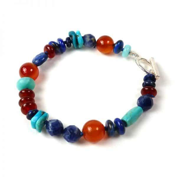 Multi-gemstone bracelet