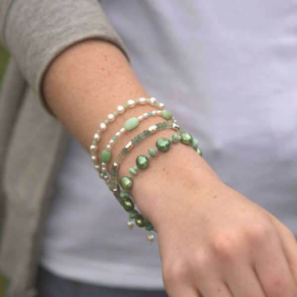 Green gemstone bracelets