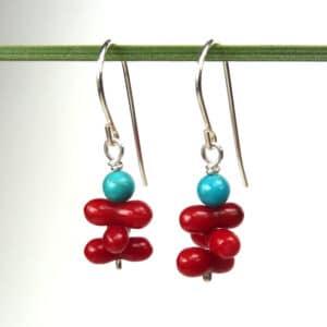 Mae Earrings - Turquoise