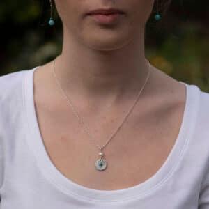 Evie Pendant - Turquoise