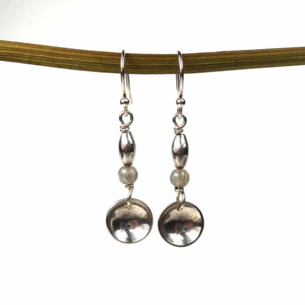 Disc Earrings - Labradorite