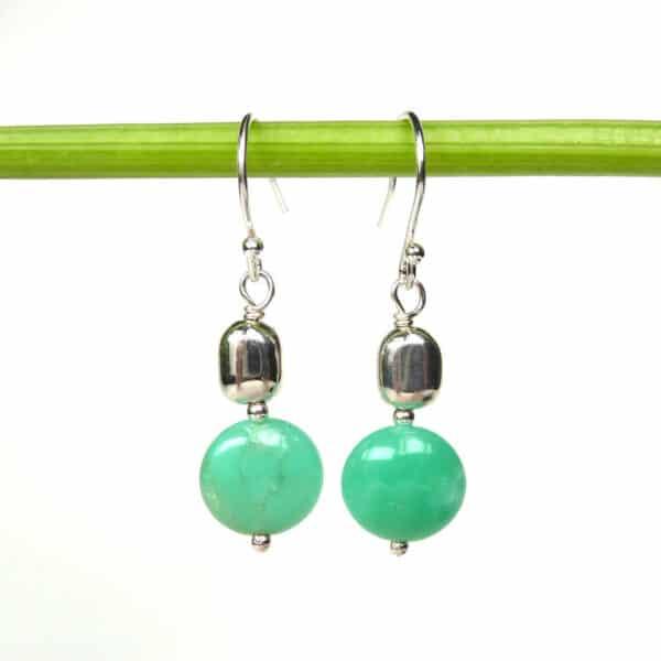 Chrysopras earrings