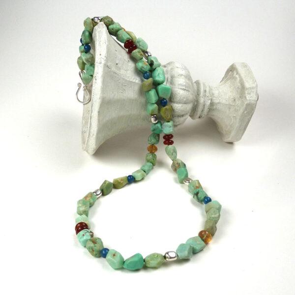 Long chrysoprase necklace