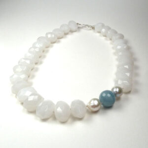 White quartzite necklace
