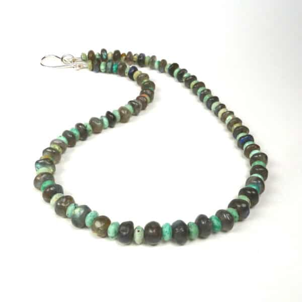 Labradorite and turquoise necklace